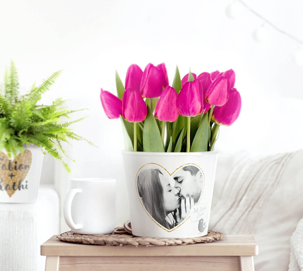 Myfacepot blumentopf mit foto als geschenk deko for Blumentopf deko