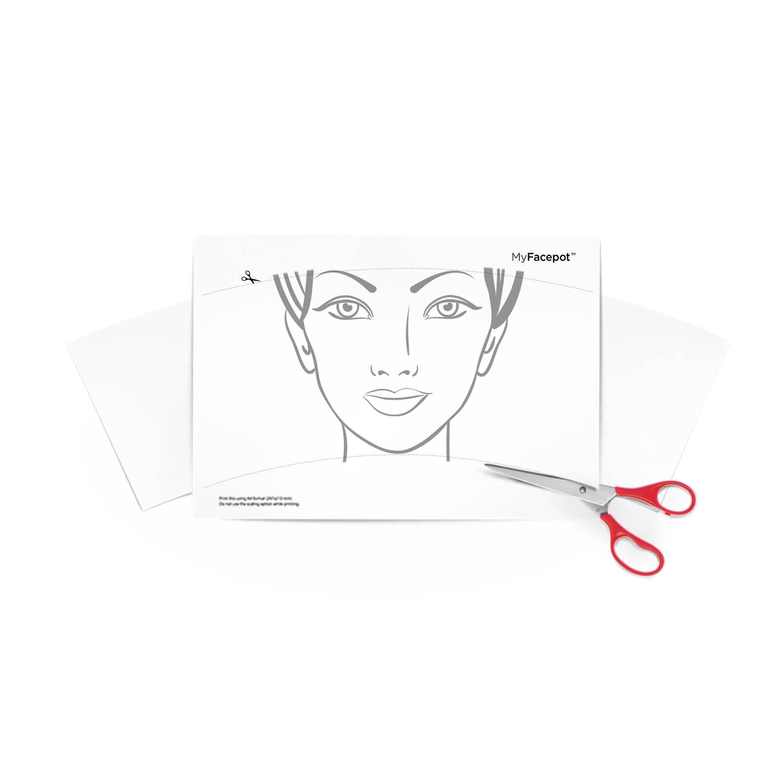 Druckvorlage (A4) für Facepot – MyFacepot.de