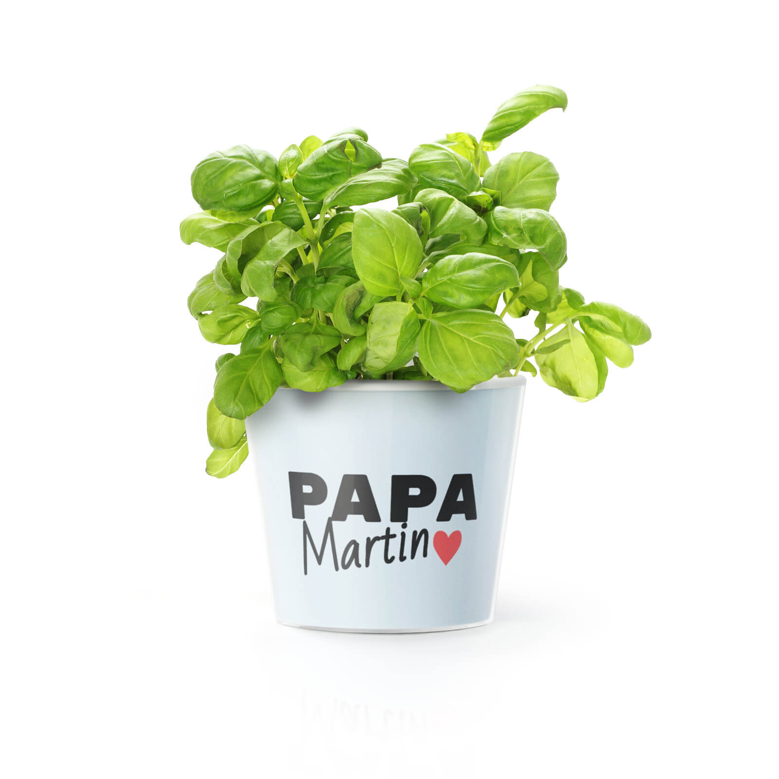 papa topf mit name. Black Bedroom Furniture Sets. Home Design Ideas