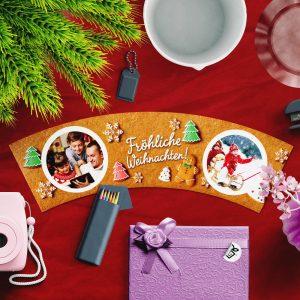 Blumentopf originelle Fotogeschenke für Weihnachten