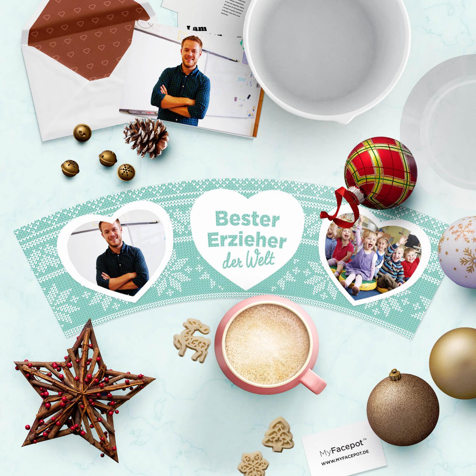 Geschenk Bester Erzieher zu Weihnachten