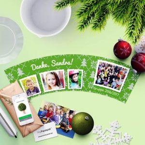Geschenk Blumentopf Weihnachten Tagesgruppe Erzieherin mit 4 Fotos