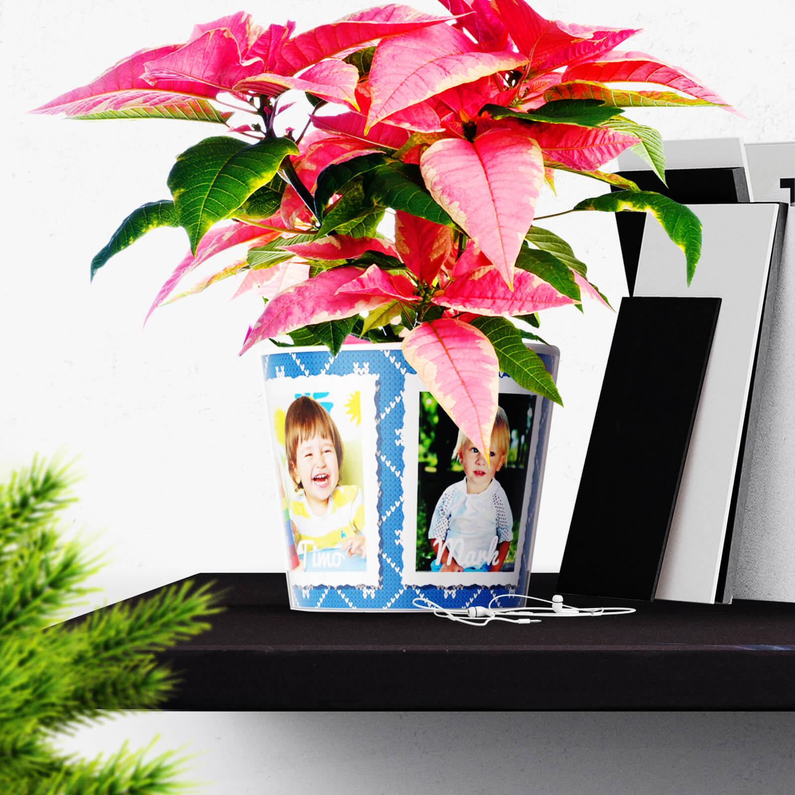 Lehrer mit 3 Fotos Weihnachtsgeschenke von Kindern und Eltern