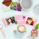 Weihnachten Erzieherin Geschenk mit 2 Fotos Blumentopf