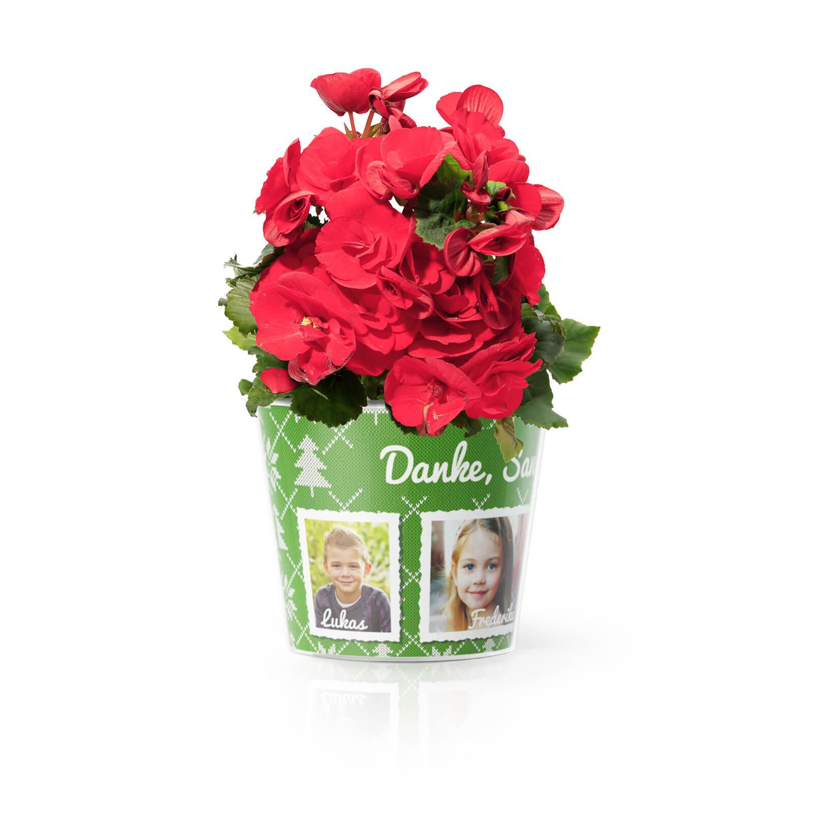 Weihnachten Kindergarten Erzieherin mit 4 Fotos Geschenk Blumentopf