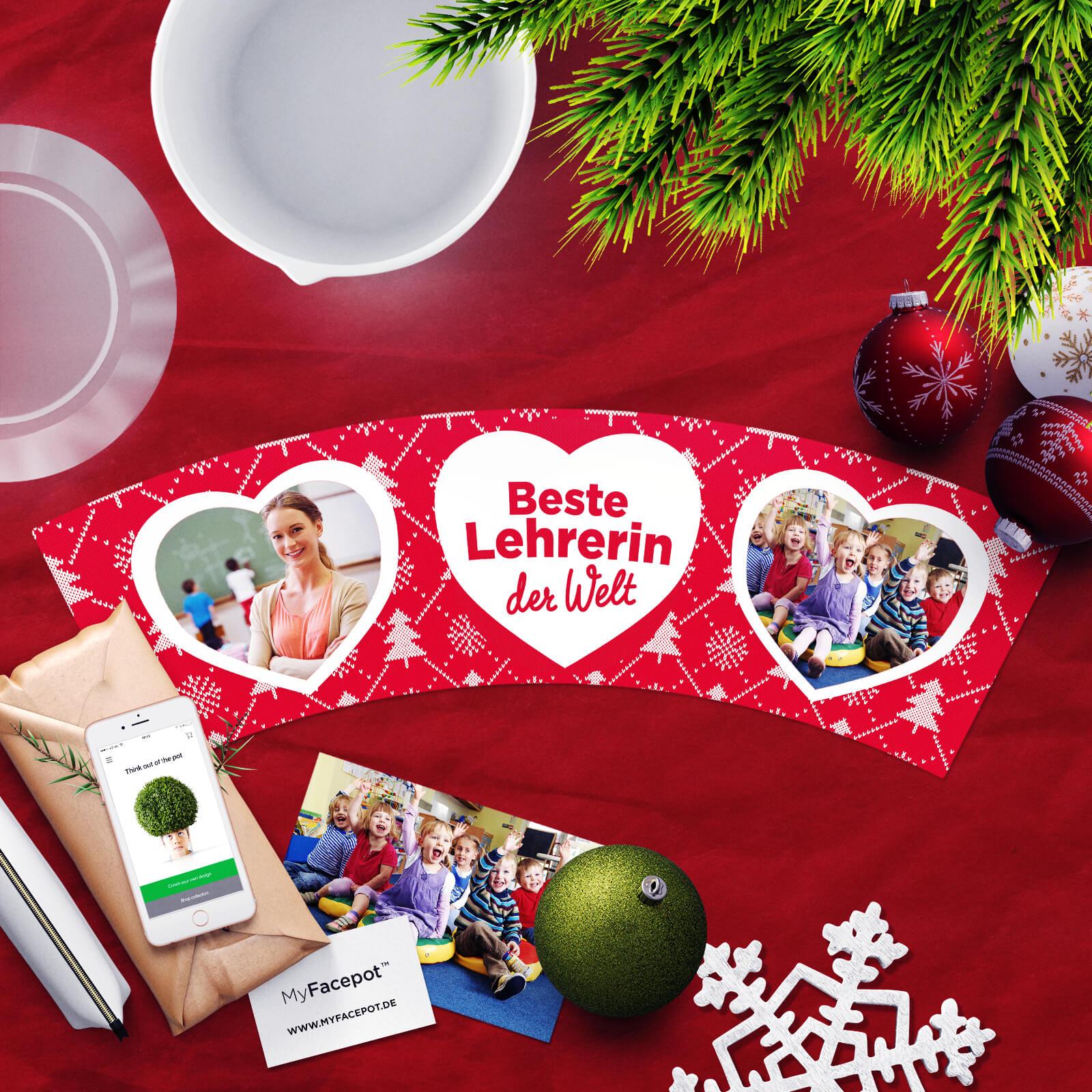 Beste Lehrerin – Geschenk Weihnachten – MyFacepot.de