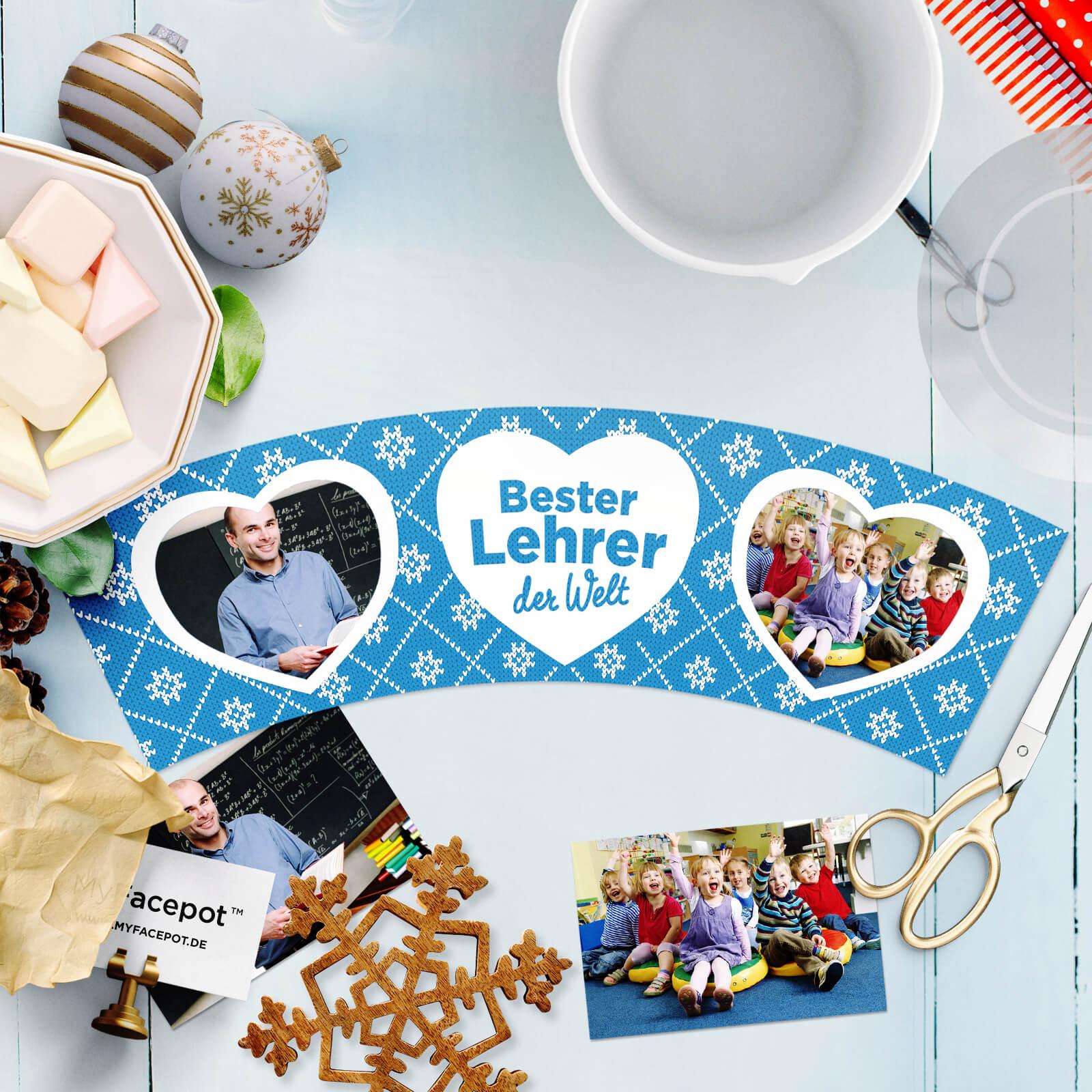 Bester Lehrer – Weihnachtsgeschenk – MyFacepot.de