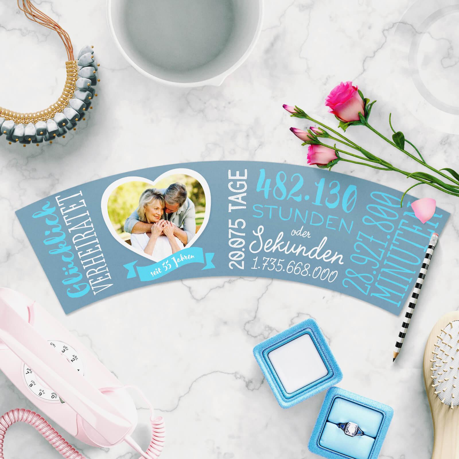 Ausgefallene Geschenkidee zum 55 Hochzeitstag