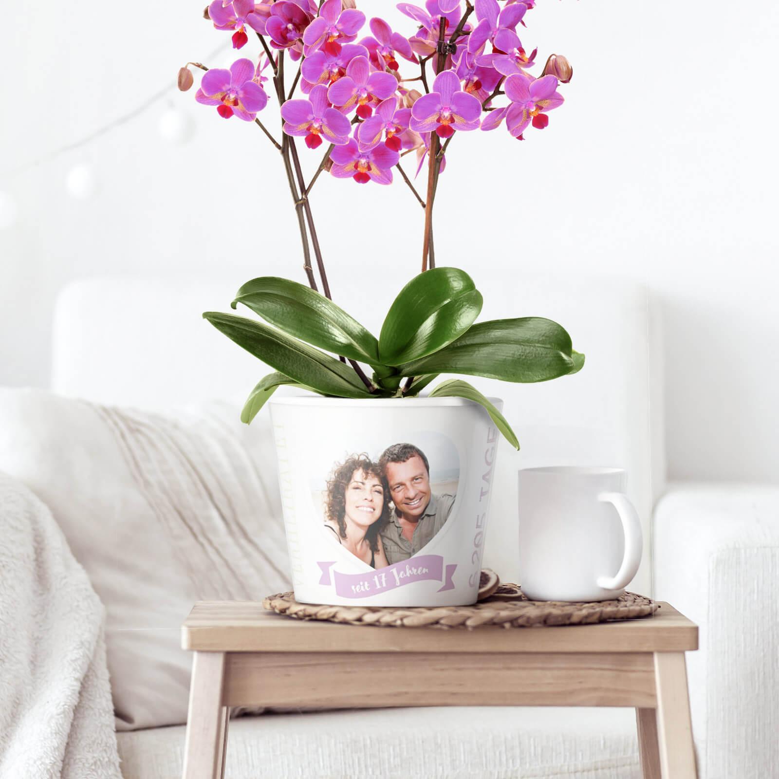 Dekoration für die Orchideenhochzeit 17 Jahre