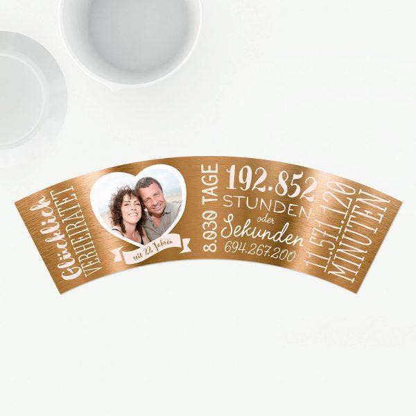 Geschenk zum 22 Hochzeitstag Bronzehochzeit