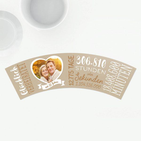 Geschenk 35 Hochzeitstag Leinwandhochzeit