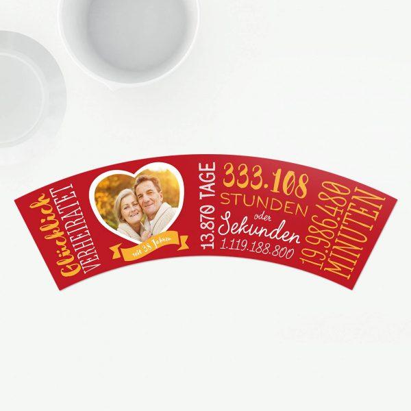 Geschenk 38 Hochzeitstag Feuerhochzeit