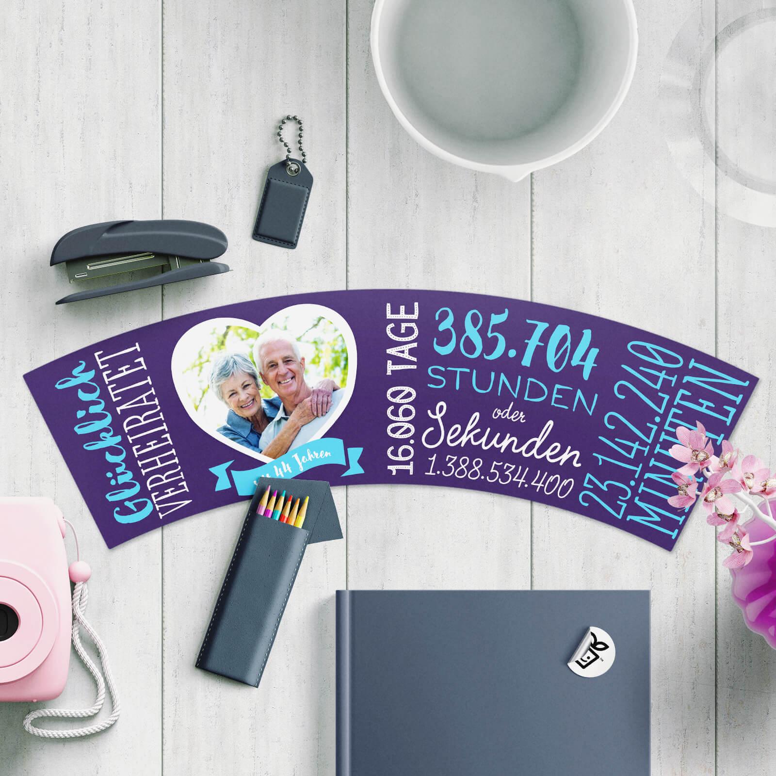 Geschenk zum 44 Hochzeitstag