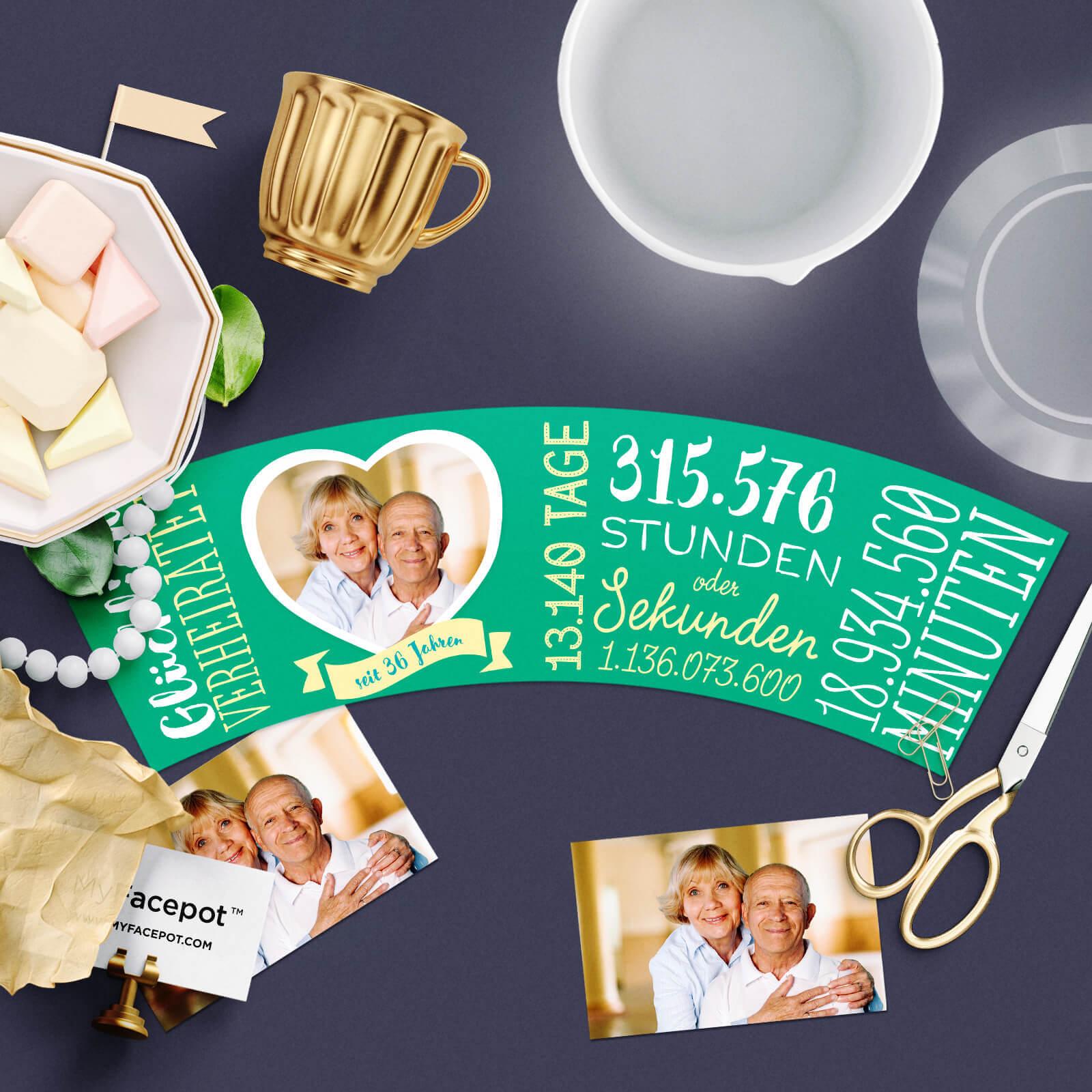Geschenk zur Smaragdhochzeit - 36 Jahre