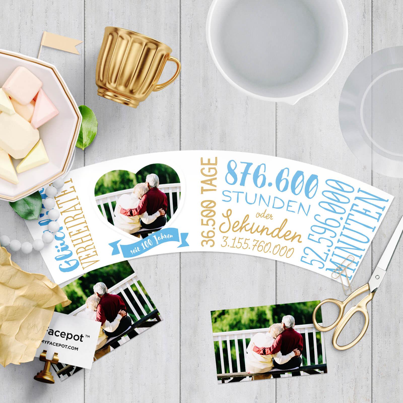 Glückwünsche zum 100 Hochzeitstag