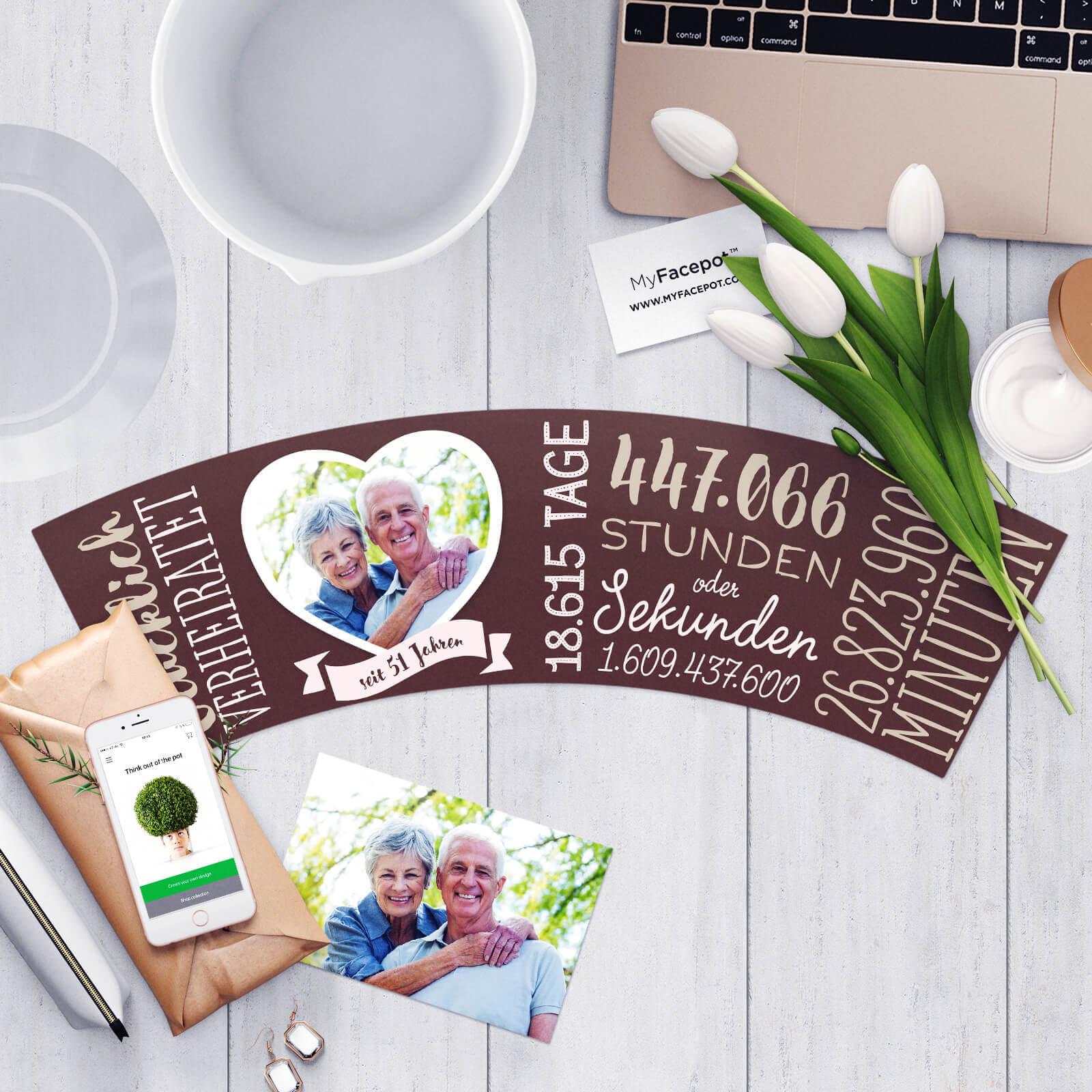 Personalisiertes Geschenk zum 51 Hochzeitstag