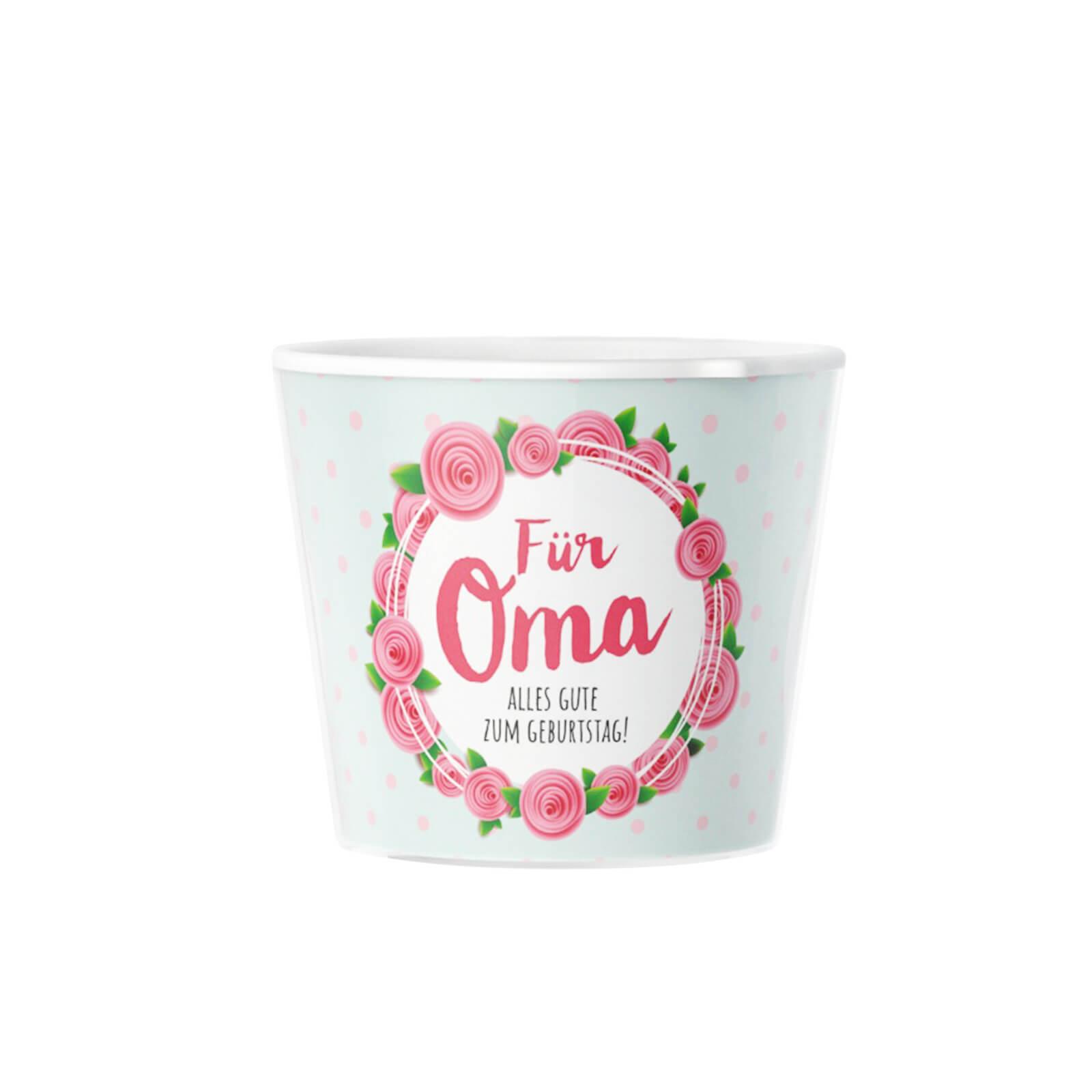 Für Oma Blumentopf Von Myfacepot