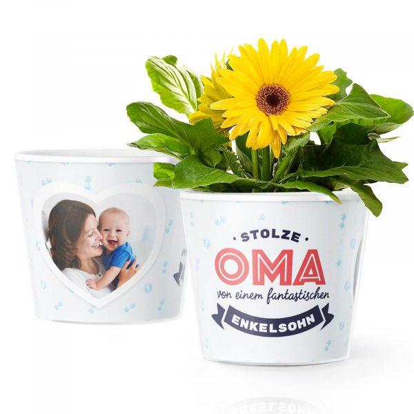 Geschenk zur Geburt von Jungen Stolze Oma
