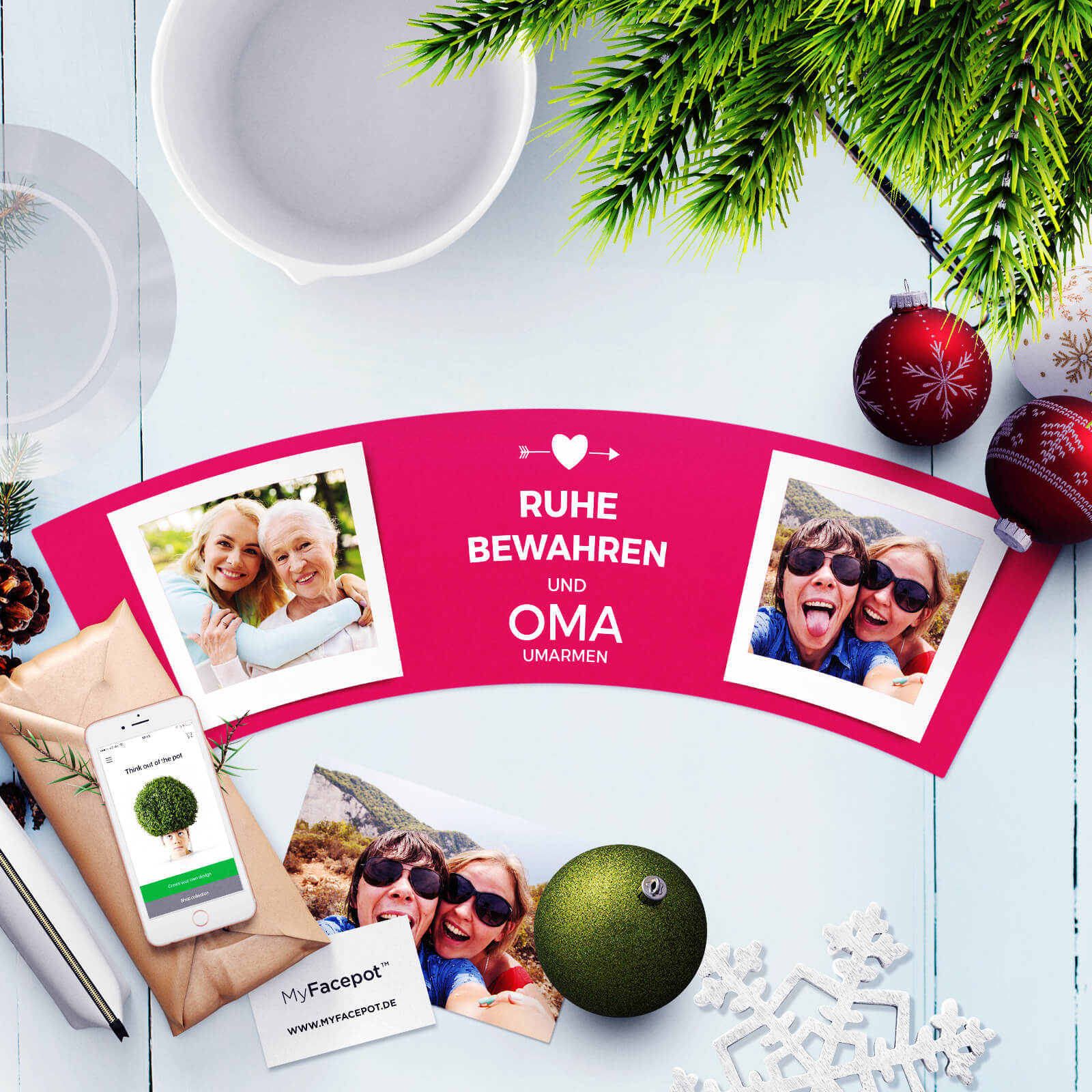 Geschenke für Oma Geburtstag Weihnachten Ruhe Bewahren