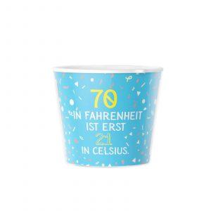 Geschenke zum 70 Geburtstag - Spruch 21 Celsius