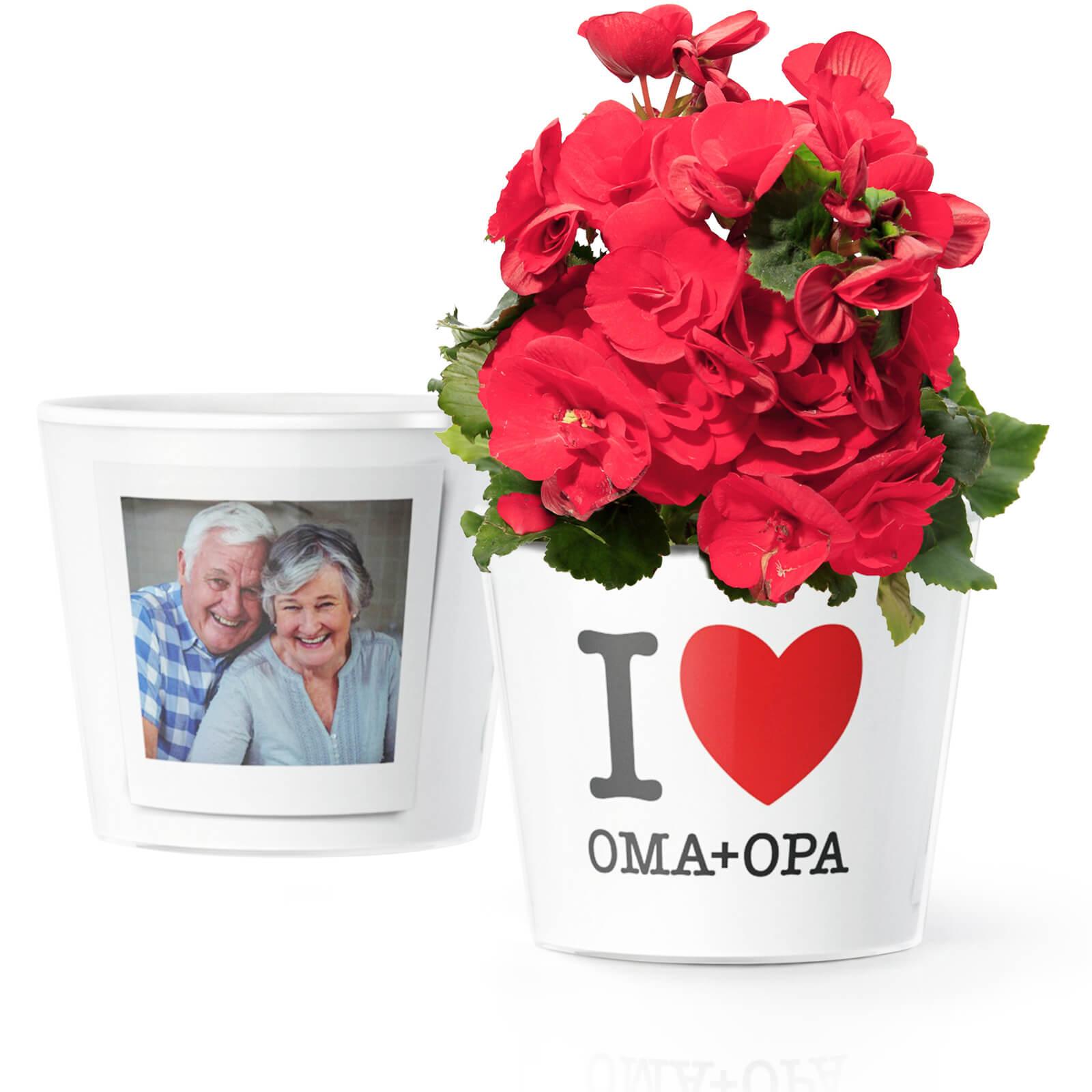 I Love Oma Opa Geschenk