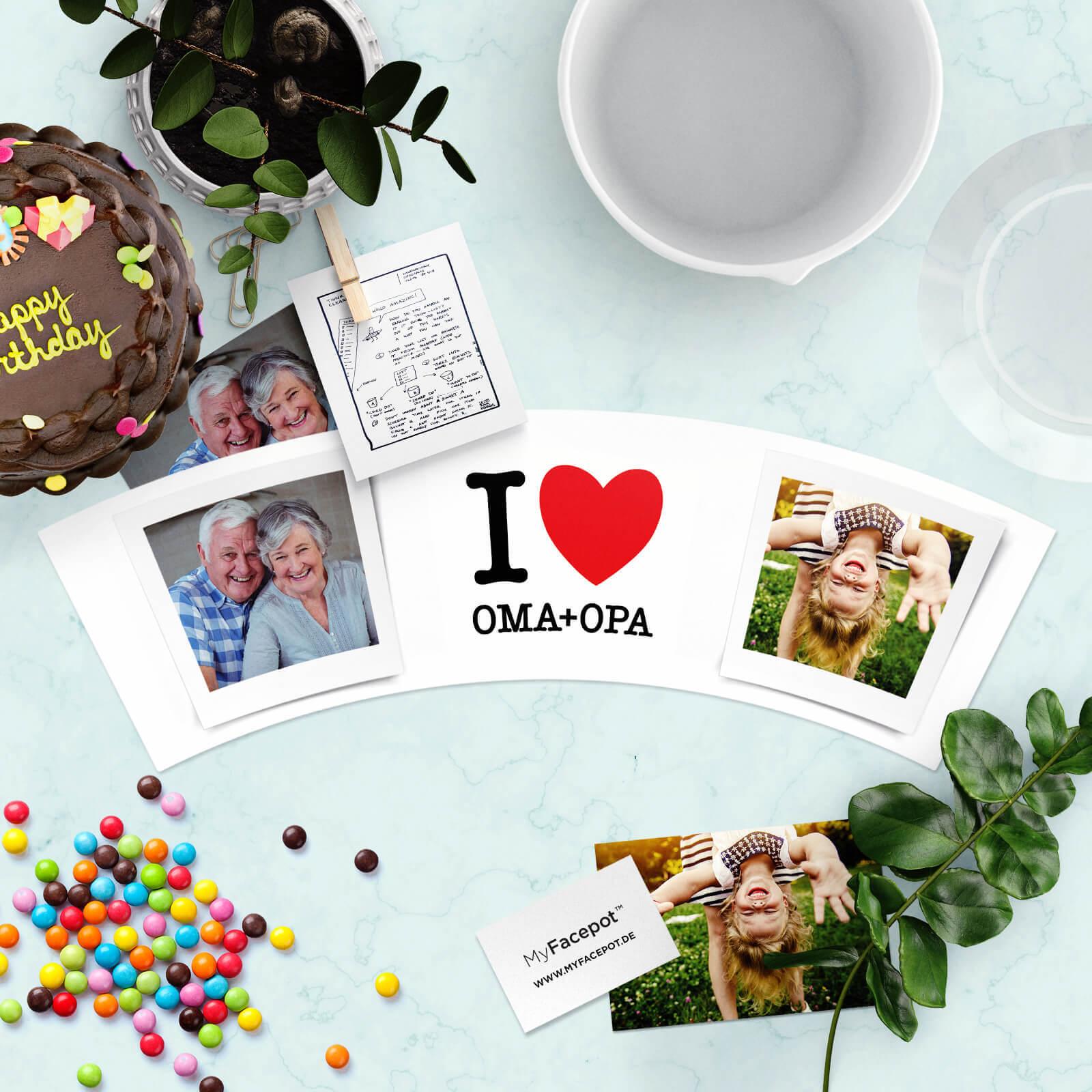 I Love Oma und Opa Geschenke