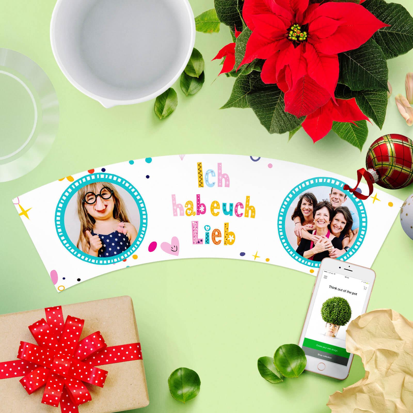 Geschenk für Oma und Opa zu Weihnachten: Ich Hab Euch Lieb