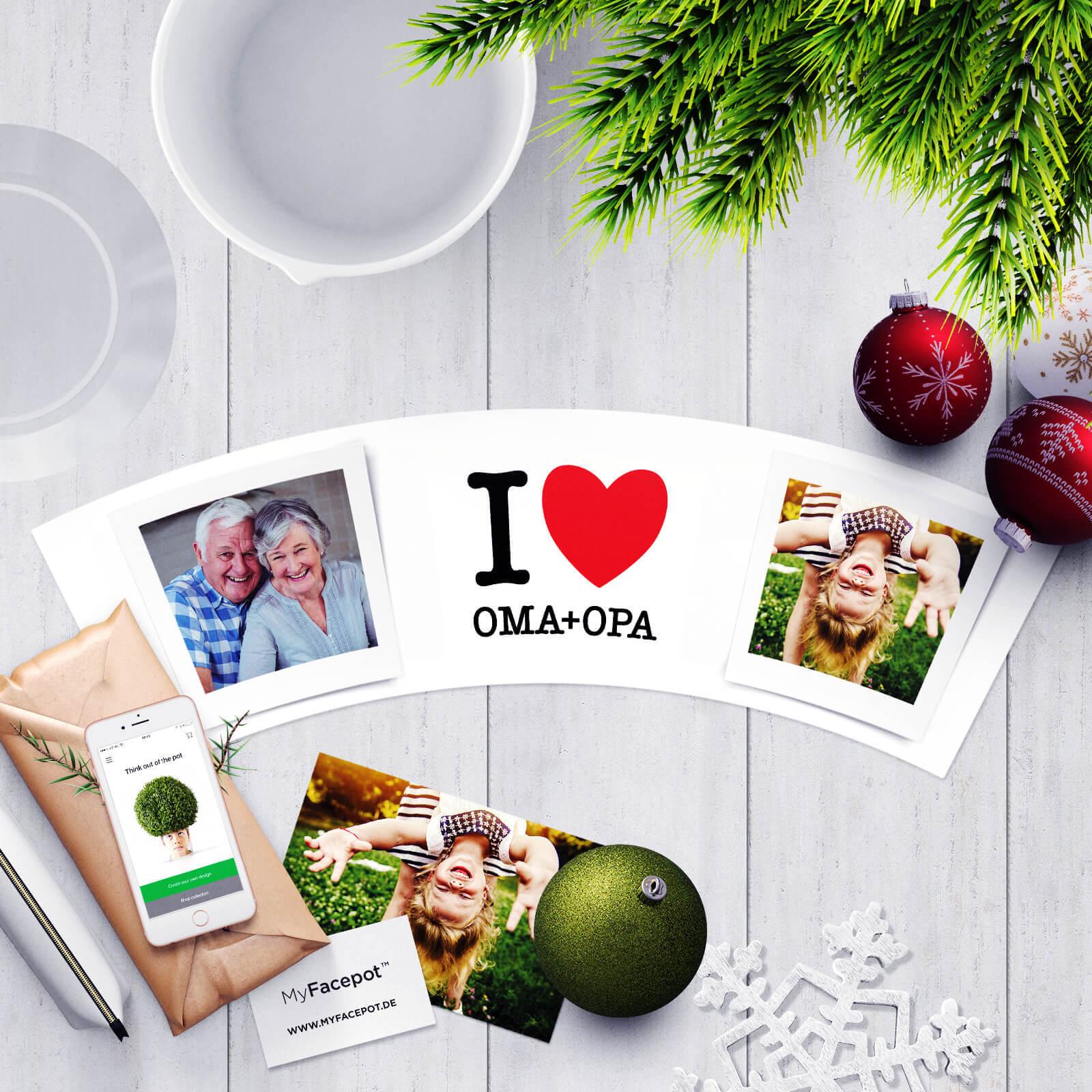 Spruch für Großeltern und Enkel - I Love Oma und Opa