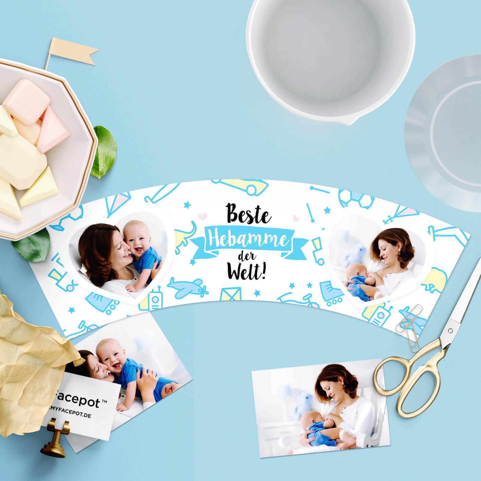 Geschenk für Hebamme nach Geburt von Junge