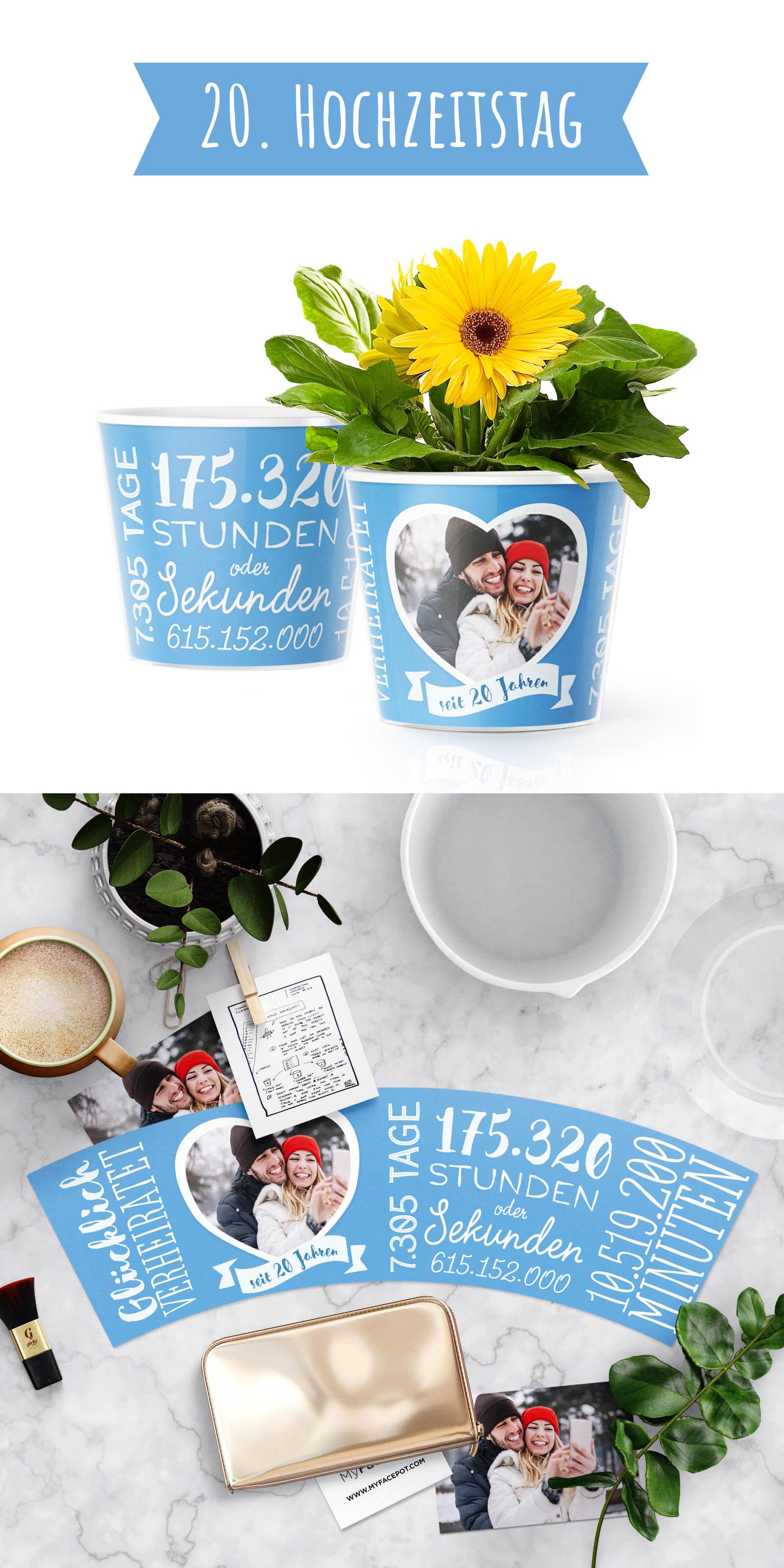 Porzellanhochzeit - Geschenk zum 20. Hochzeitstag