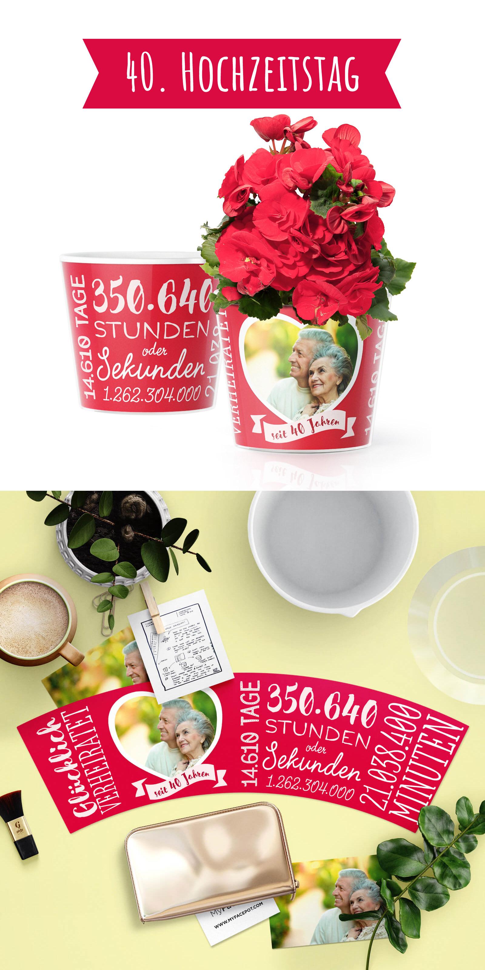 Rubinhochzeit - Geschenk zum 40. Hochzeitstag