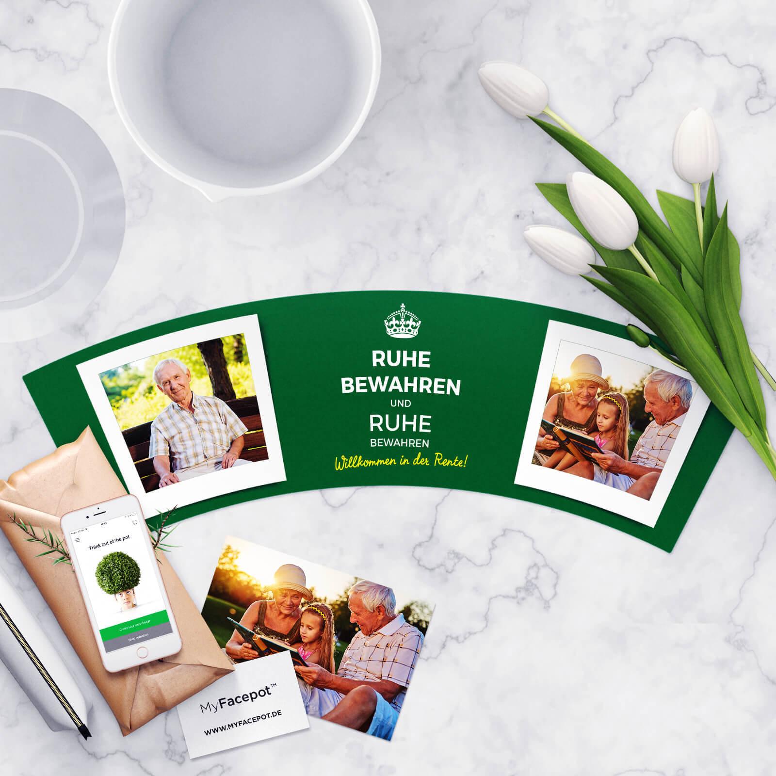 Ruhe Bewahren und Ruhe Bewahren Geschenk Pension
