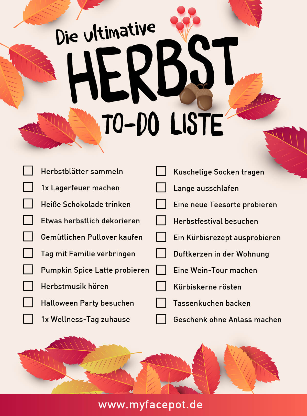 Herbst To-Do Liste